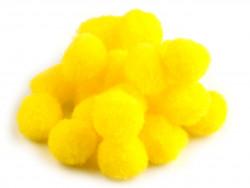 Pomponiki cytrynowe żółte 15mm - 20szt