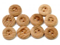 Drewniane guziki - obłe, 15mm