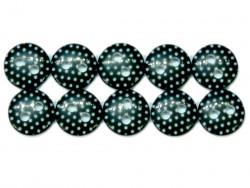 Guziki 10mm w kropki czarne