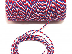 Sznurek bawełniany skręcany 1,5mm trzy kolory 100m