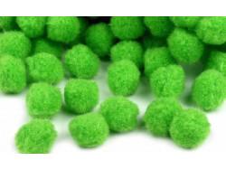 Pomponiki 11mm zielone jasne 100szt