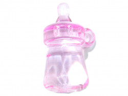 Zawieszka buteleczka ze smoczkiem różowa