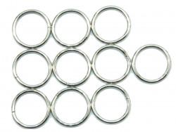 Kołko metalowe 15mm srebrne