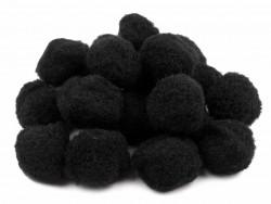 Pomponiki 11mm czarne 100szt