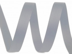 Tasiemka rypsowa 9mm szara srebrna 27,4m