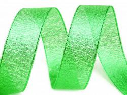 Tasiemka brokatowa 25mm zielona