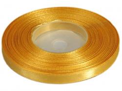 Wstążka satynowa 6mm - żółta brudna