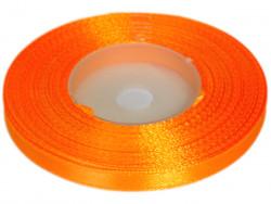 Wstążka satynowa 6mm - pomarańczowa