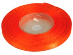 Wstążka satynowa 6mm - pomarańczowa ostra