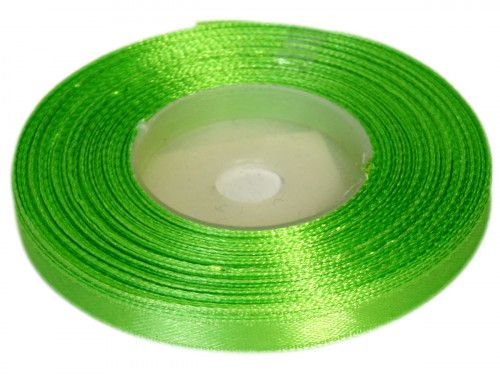 Wstążka satynowa 6mm - zielona jasna
