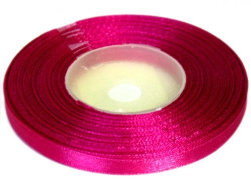 Wstążka satynowa 6mm - różowa amarantowa
