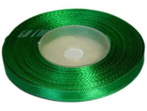 Wstążka satynowa 6mm - zielona