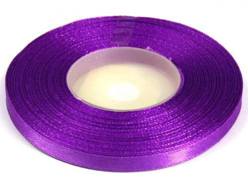 Wstążka satynowa 6mm - fioletowa ciemna