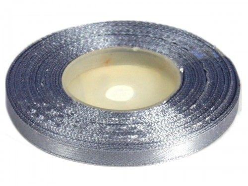 Wstążka satynowa 6mm - szara srebrna