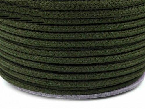 Sznurek poliestrowy 5mm - zielony ciemny 100m