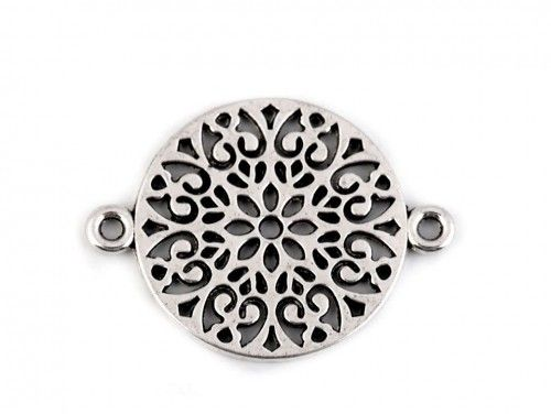 Zawieszka, łącznik metalowy mandala
