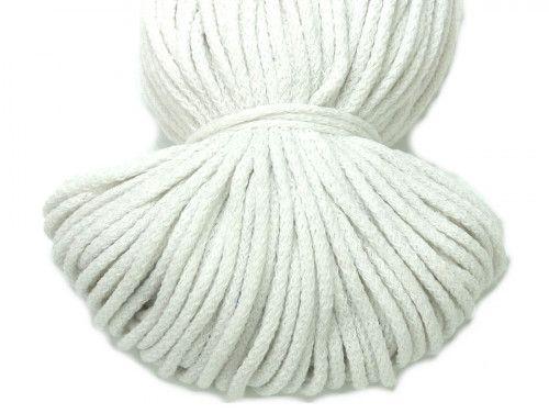 Sznurek bawełniany 5mm bez rdzenia biały 100m