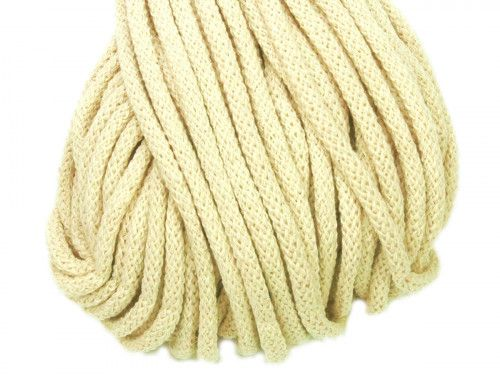 Sznurek bawełniany 5mm naturalny 50m
