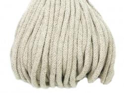 Sznurek bawełniany 5mm beżowy