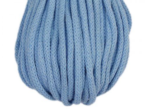 Sznurek bawełniany 5mm błękitny 50m