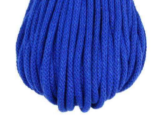 Sznurek bawełniany 5mm chabrowy niebieski 50m