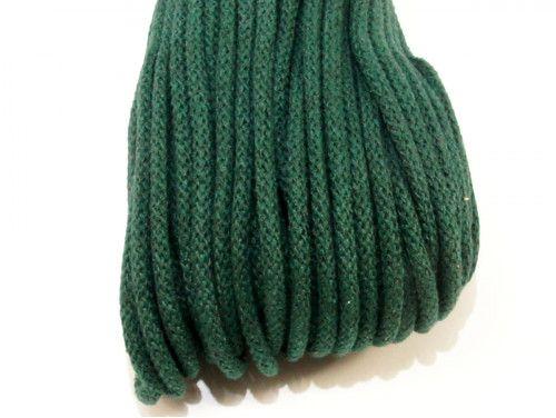 Sznurek bawełniany 5mm zielony szmaragdowy 50m