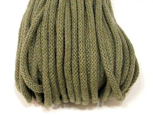 Sznurek bawełniany 5mm zielony khaki 50m
