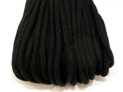 Sznurek bawełniany 5mm czarny 50m