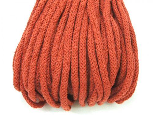 Sznurek bawełniany 5mm pomarańczowy rudy 50m