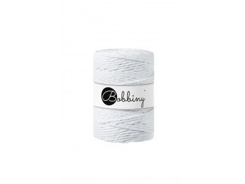 Sznurek bawełniany skręcany 5mm biały BOBBINY do makram