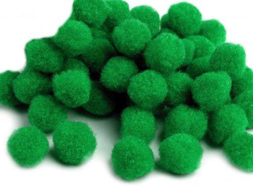 Pomponiki 11mm zielone ciemne 100szt