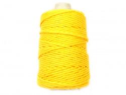 Sznurek bawełniany 4mm skręcany żółty 100m
