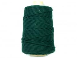 Sznurek bawełniany 4mm skręcany zielony 100m