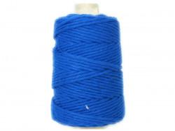 Sznurek bawełniany 4mm skręcany niebieski 100m