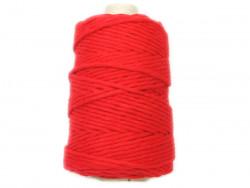 Sznurek bawełniany 4mm skręcany czerwony 100m
