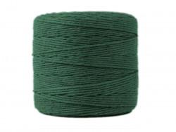 Sznurek bawełniany 2mm skręcany zielony 300m