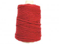 Sznurek bawełniany 4,5mm skręcany czerwony ciemny 100m