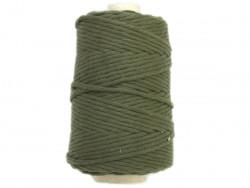 Sznurek bawełniany 4,5mm skręcany zielony khaki 100m