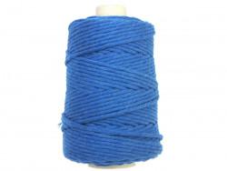 Sznurek bawełniany 4,5mm skręcany niebieski jeans 100m