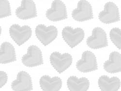 Aplikacje serca miękkie białe 15mm