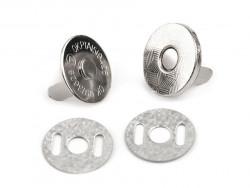 Zapięcie magnetyczne do torebek cienkie srebrne