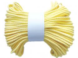 Sznurek bawełniany pełny 5mm cytrynowy 50m