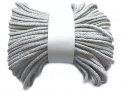 Sznurek bawełniany pełny 5mm szary jasny 50m