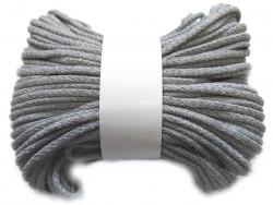 Sznurek bawełniany pełny 5mm szary 50m