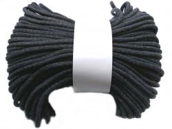 Sznurek bawełniany pełny 5mm grafitowy 50m
