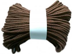 Sznurek bawełniany pełny 5mm brązowy 50m