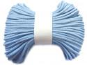 Sznurek bawełniany pełny 5mm niebieski jasny 50m