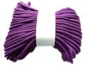 Sznurek bawełniany pełny 5mm fioletowy 50m