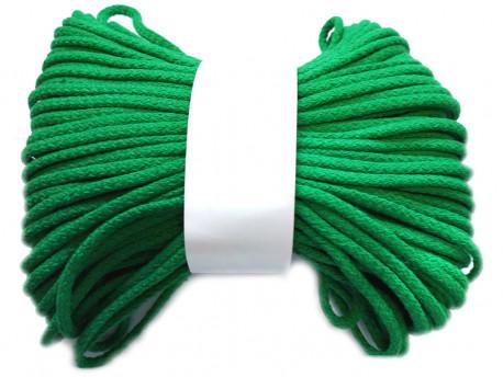 Sznurek bawełniany pełny 5mm zielony 50m