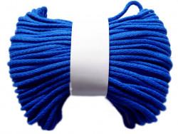 Sznurek bawełniany pełny 5mm chabrowy 50m